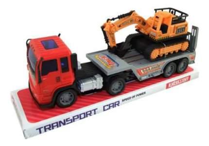 Набор машин строительной техники Junfa Toys Автовоз с экскаватором 8268-32B