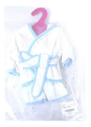 Банный халатик белый для кукол Junfa toys