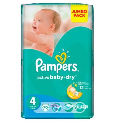 Подгузники Pampers Active Baby-Dry Jumbo 4 maxi (7-14 кг), 70 шт.