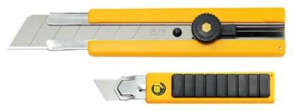 Нож канцелярский OLFA с выдвижным лезвием, с резиновыми накладками, 25мм