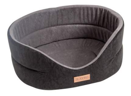 Лежанка для собак Katsu 62x70x25см черный, серый