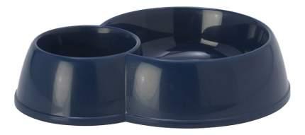Двойная миска для собак MODERNA, пластик, синий, 2 шт 0.17 л и 0.45 л