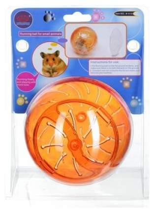 Прогулочный шар для кроликов, крыс, мышей, хомяков KREDO пластик, 12.5 см