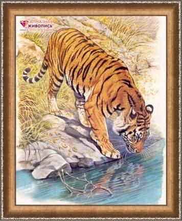 Алмазная живопись Тигр у реки АЖ-1523