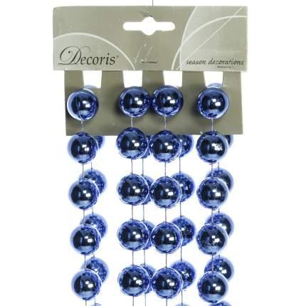Kaemingk Бусы пластиковые ГИГАНТ 20 мм*270 см синие 948502