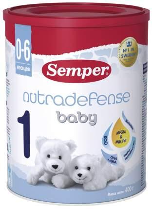 Молочная смесь 1 (от 0 до 6 мес.) Semper Baby Nutradefense 400 г