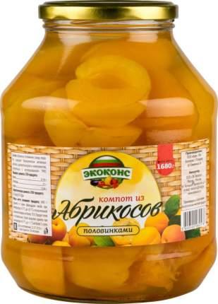 Компот из абрикосов Экоконс половинками 1.7 л