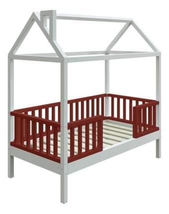 Кровать-домик Трурум KidS Сказка узкий бортик шоколадно-белая