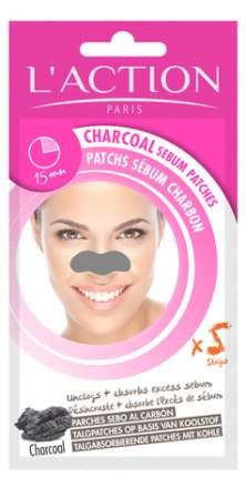 Патчи для очищения кожи L'Action Charcoal Sebum Patch