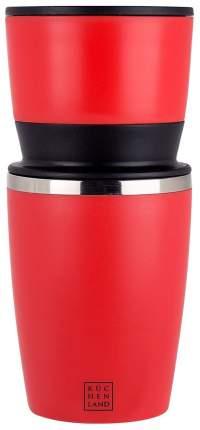 Кофемашина, 3 в 1, 19 см, механическая, красная, Kitchen tools