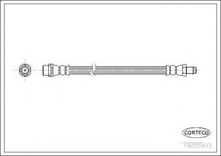 Шланг тормозной Corteco 19025903
