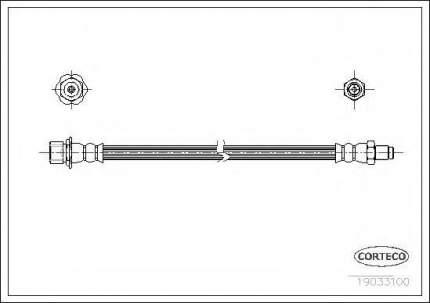 Шланг тормозной системы Corteco 19033100