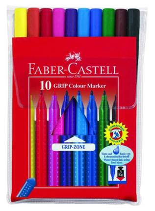 Фломастеры Faber-Castell GRIP 10 шт