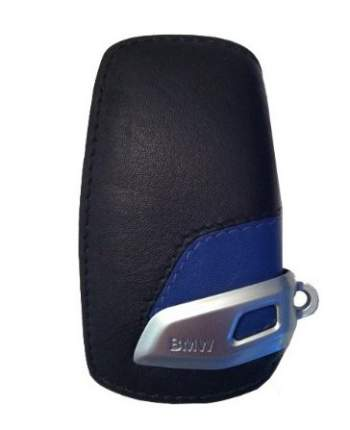 Кожаный футляр для ключа BMW 82292219915 Sport Blue Black