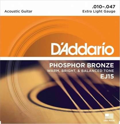 Струны для акустической гитары D ADDARIO EJ15