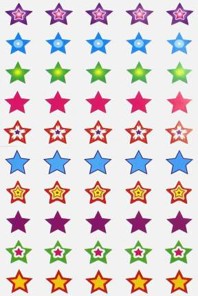Сфера тц Нм-8248 набор для поощрения на Самоклеящейся Бумаге Звезды!