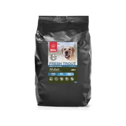 Сухой корм для собак Blitz Holistic, все породы, низкозерновой, свежая форель, 12кг