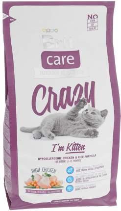 Сухой корм для котят Brit Care Crazy Kitten, с курицей и рисом, 2+1кг