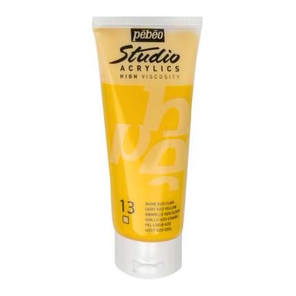 Акриловая краска Pebeo Studio Acrylics 831-013 светло-желтый 100 мл