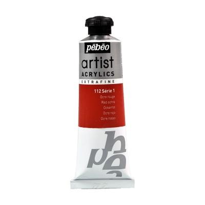 Акриловая краска Pebeo Artist Acrylics extra fine №1 охра красная 37 мл
