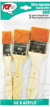 """Наборы кистей """"Pebeo"""", синтетика, флейц, длинная ручка, 3 штуки, №25, 40, 50 (арт. 950550)"""