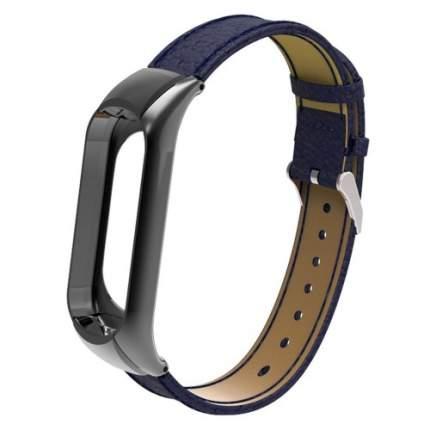 Ремешок для смарт-браслета Хiaomi mi band 4 кожаный Blue