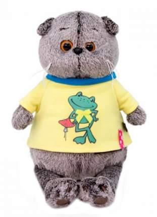 Мягкая игрушка BUDI BASA Басик в футболке с принтом Лягушонок, 19 см