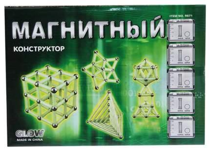 """Магнитный конструктор """"Неоновая звезда"""", 42 детали"""