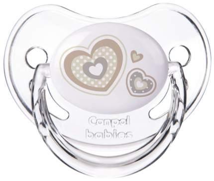 Пустышка анатомическая Canpol Newborn baby силикон, 0-6 мес., арт. 22/565 цвет белый