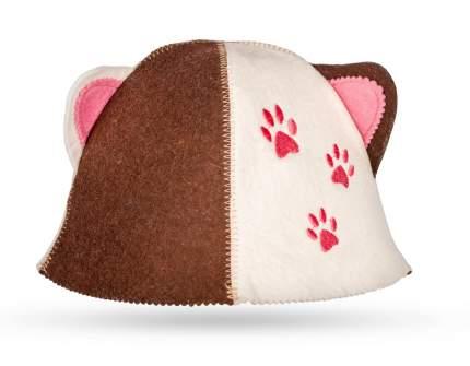 Шапка детская для бани Кошка Rusher дш011
