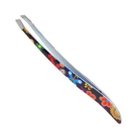 Пинцет для бровей Solinberg G77J, цветной, наклонное окончание с четкими гранями
