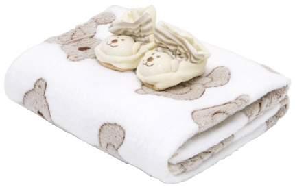Плед+пинетки велюровые Baby Nice Мишки 100x118 бежевый