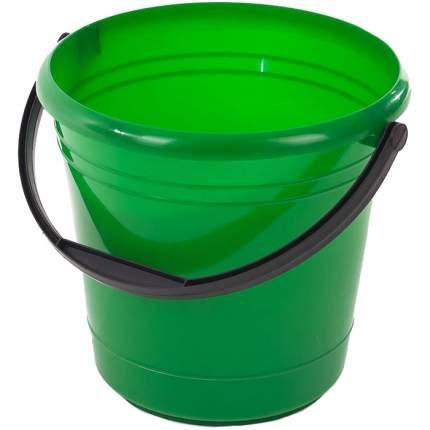 Ведро пластиковое с ручкой, 8 л, цвет зеленый ЭЛЛАСТИК-ПЛАСТ