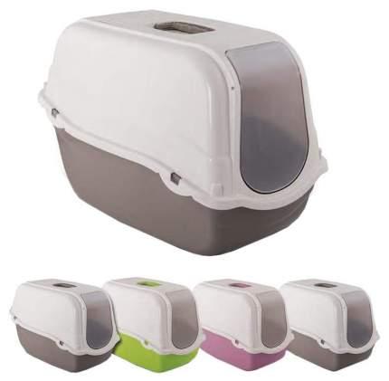 Туалет для кошек MP-Bergamo ROMEO(Budget), прямоугольный, в ассортименте, 57х39х41 см