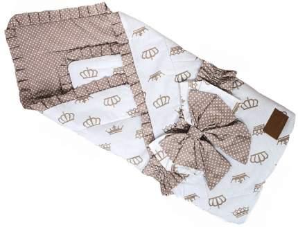 Одеяло на выписку AmaroBaby HAPPY (Короны коричневый)