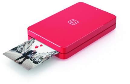 Компактный фотопринтер LifePrint (2х3), с функцией мгновенной печати, красный