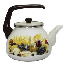 Чайник для плиты Interos Палермо 3,0л эмалированный с кр.