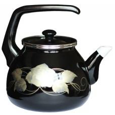 Чайник для плиты Interos Черное золото 3,0л эмалированный с кр.