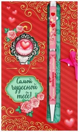Подарочный набор Самой чудесной тебе закладка, ручка на открытке SimaLand