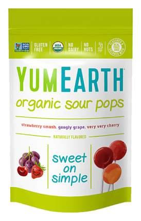Карамель на палочке YumEarth organic sour lollipops
