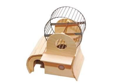Домик для грызунов Зоомарк Гризли-3ж, с колесом