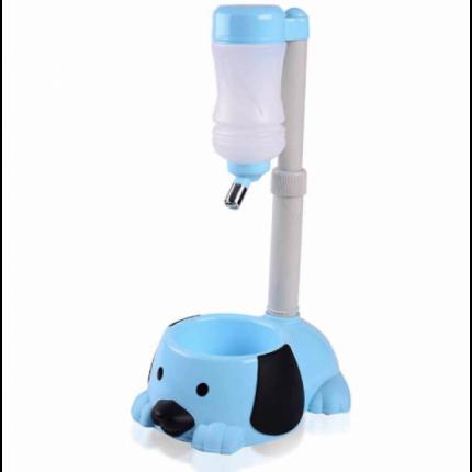 Поилка для собак Lemon Tree, фонтан питьевой воды с чашей, голубой, 450 мл