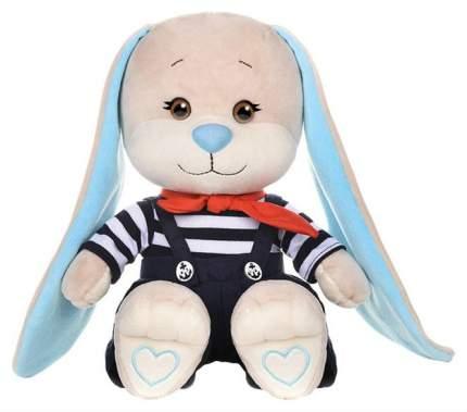 Мягкая игрушка Jack&Lin Зайка Жак в полосатой кофточке и синих штанишках 25 см