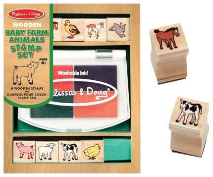 Набор печатей для творчества Melissa and Doug животные с фермы