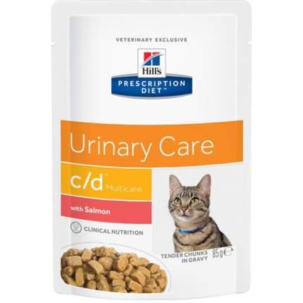 Влажный корм для кошек Hill's Prescription Diet Urinary Care c/d, лосось, 12шт по 85г