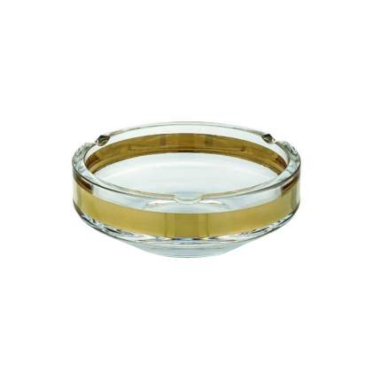 AVENUE Пепельница 18см, прозрачный/золото