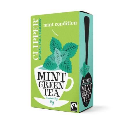 Чай зеленый Clipper с мятой органик 20 пакетиков