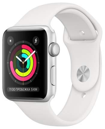 Смарт-часы Apple Watch Series 3 38mm Silver Al/White Sport Band (MTEY2RU/A)