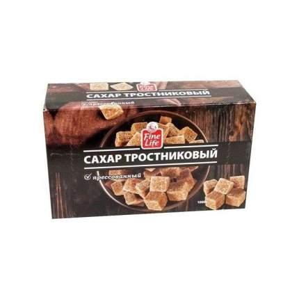 Сахар Fine Life тростниковый коричневый кусковой прессованный 1 кг