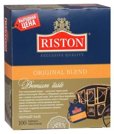 Чай черный Riston original blend байховый цейлонский мелкий 100 пакетиков